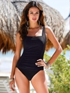 Ericdress Simple Pleated Square Neck One-Piece Swimwear