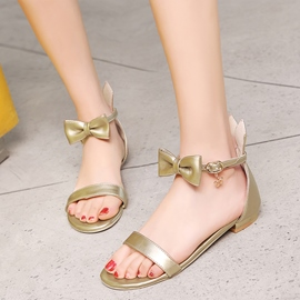 Ericdress Concise Bowtie Flat Sandals