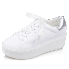 Ericdress PU Platform Women's White Sneakers