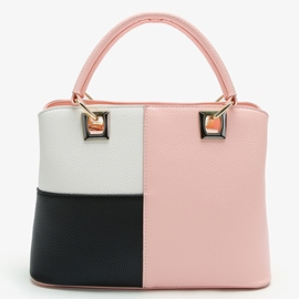 Ericdress Color Block Lichee Pattern Patchwork Handbag