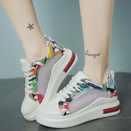 Ericdress Cartoon Print Mersh Patchwork Sneakers