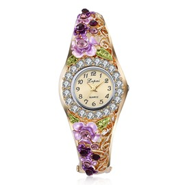 Ericdress Exquisite Diamante Flower Quarta Women's Wristwatch