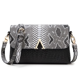 Ericdress Casual Lizard Pattern Embossed Crossbody Bag