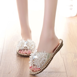 Ericdress Glittering Rhinestone Decorated Mules Shoes