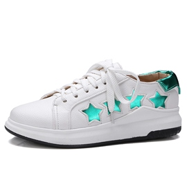Ericdress Chic Star Geometric White Shoes