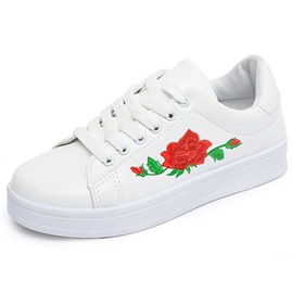 Ericdress Pretty Embroidery Rose White Shoes