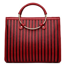 Ericdress Stripe Thread Patchwork Handbag