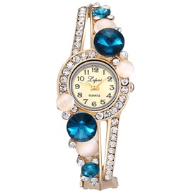Ericdress Luxurious Sapphire Inlay Flower Watch