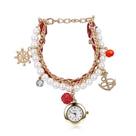 Ericdress Quartz & Alloy Pearl Anchor Watch