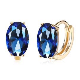 Ericdress Oval Rhinestone Romantic Stud Earring