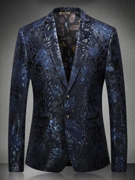 Ericdress Single-Breasted Plus Size Print Men's Blazer