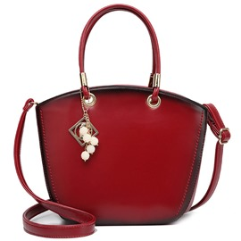 Ericdress Retro Color Block Shell Handbag