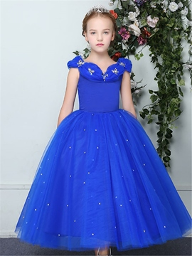 Ericdress Princess Appliques Ball Gown Flower Girl Dress
