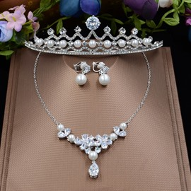 Ericdress Splendid Pearl Series Wedding Jewelry Set