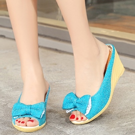 Ericdress Colorful Sequins Peep Toe Mules Shoes