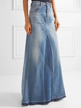 Ericdress High Waisted Denim Women's Skirts