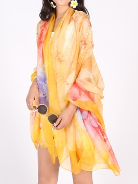 Ericdress Long Color Block Sun-Protective Cover-Up