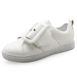 Ericdress Delicate White Buckles Decorated Flats