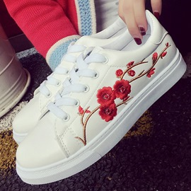 Ericdress Charming Embroidery White Shoes