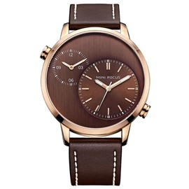 Ericdress Classic Two-Movement Dual Time Hour Men's Watch
