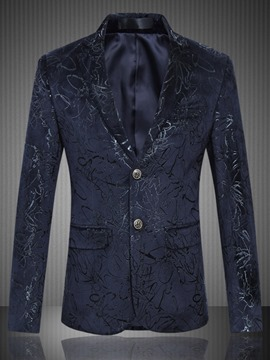 Ericdress Print Pocket Vogue Quality Men's Blazer