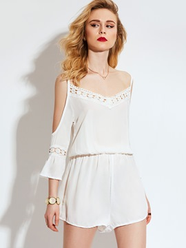 Ericdress Lace Hollow Loose Women's Romper
