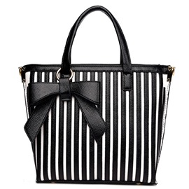 Ericdress Color Block Stripe Print Handbag