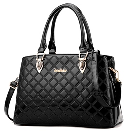 Ericdress OL Style Plaid Patent Leather Handbag