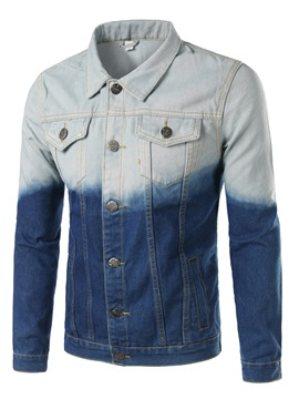 Ericdress Color Block Denim Casual Men's Jacket