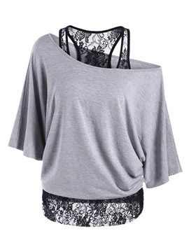 Ericdress Lace Crochet Stylish T-Shirt