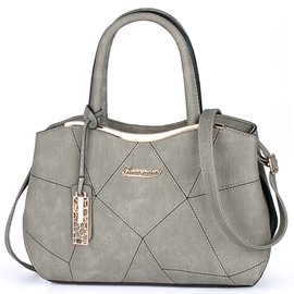 Ericdress Big Capacity Geometric Thread Handbag