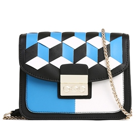 Ericdress Casual Geometric Plaid Crossbody Bag