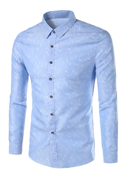 Ericdress Long Sleeve Print Vogue Slim Men's Shirt