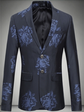 Ericdress Plus Size Print Vintage Casual Men's Blazer