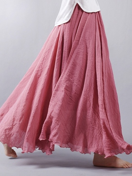 Ericdress Pleated Chiffon Usual Skirts