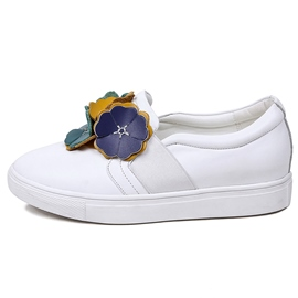 Ericdress Leather Appliques Women's White Sneakers