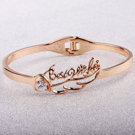 Ericdress Titanium Rose Gold Fashion Bracelet