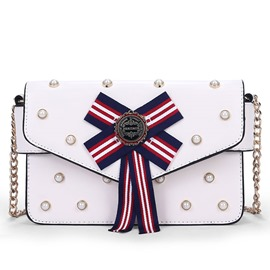 Ericdress Vogue Pearl Stripe Decorated Shoulder Bag