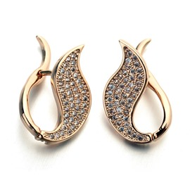 Ericdress Luxurious Diamante Leaf-Shaped Stud Earrings