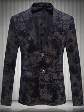 Ericdress Two Button Plus Size Floral Quality Vogue Men's Blazer