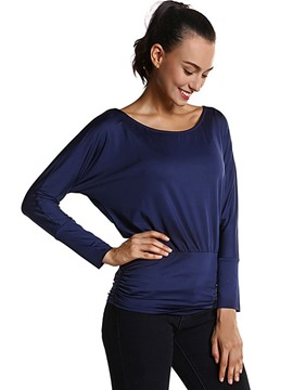Ericdress Solid Color Pleated Comfy T-Shirt