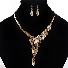 Ericdress Elegant Y-Shape Diamante Jewelry Set