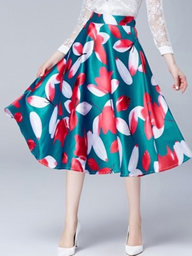 Ericdress High-Waist Floral Skirts
