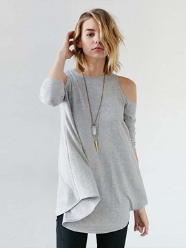 Ericdress Cold Shoulder Loose Comfy T-Shirt