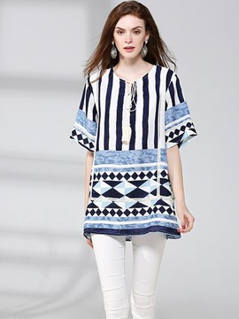 Ericdress Geometric Pattern Comfy T-Shirt