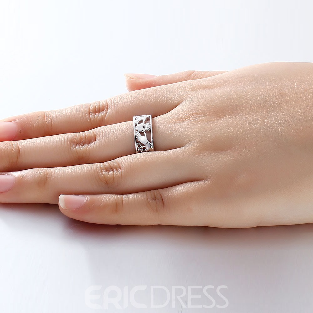 Ericdress Hold Your Heart Vintage Wedding Ring