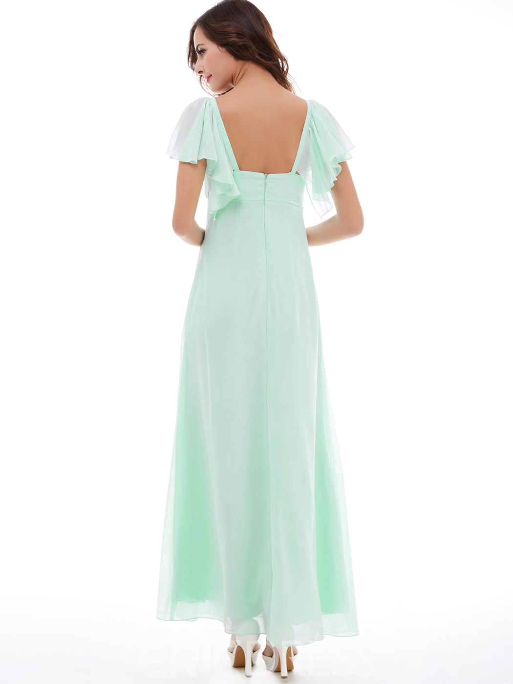 Ericdress A-Line Square Neckline Chiffon Long Prom Dress