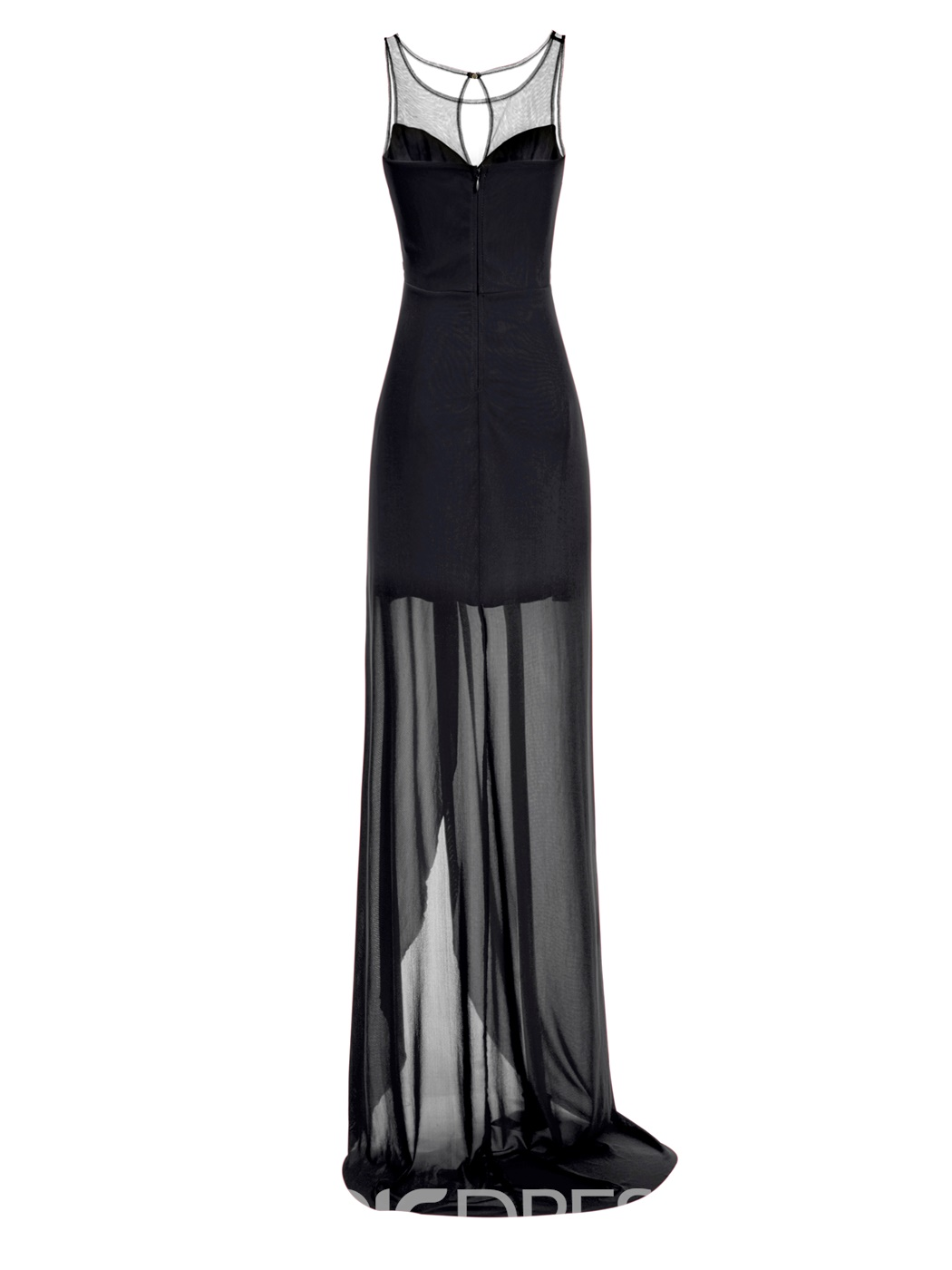 Ericdress Scoop Neck Beaded Long Chiffon Evening Dress