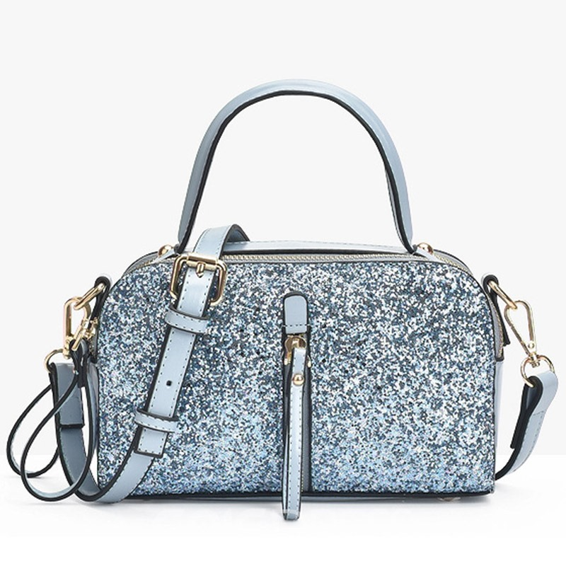 Ericdress Shiny Sequins Decorated PU Handbag