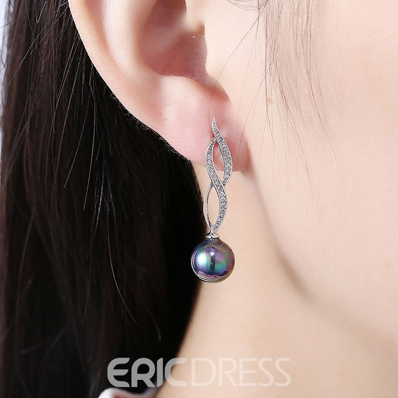 Ericdress High Quality K Gold Zircon Drop Earring for Women